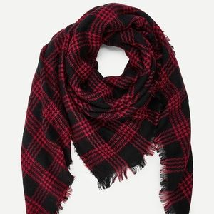 👒🕶💍❗️NEW❗️Red&Black Blanket Scarf